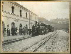 Stazione Amandola 1910 - Foto Paolo Di Fabio_L'Aquila (dino.treggiari) Tags: stazione marche ascoli piceno locomotiva ferroviaria vapore amandola