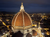 Cattedrale di Santa Maria del Fiore, Florence (blue polaris) Tags: santa city travel flowers blue italy tower saint del florence italian cathedral bell dusk maria mary il campanile hour tuscany cupola dome di firenze piazza duomo fiore renaissance brunelleschi cattedrale giottos