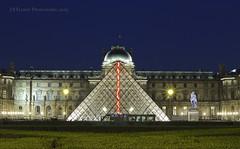 Late Evening, Pyramide du Louvre (elliott845) Tags: paris architecture night evening europe pyramid dusk bluehour lelouvre thelouvre