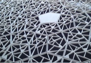 White pentagone