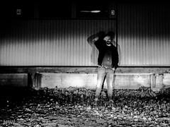 20151020-IMG_1347.jpg (hjankola) Tags: selfportrait blackwhite nightshot carheadlights