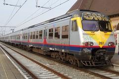 NMBS Electric trainset N 397. (Franky De Witte - Ferroequinologist) Tags: de eisenbahn railway estrada chemin fer spoorwegen ferrocarril ferro ferrovia