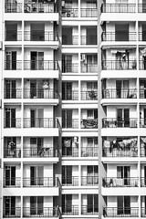 Buildings and Its Stories! (_Viky_) Tags: blackandwhite bw abstract buildings apartment patterns thane mumbai symmetery mumbaibuildings