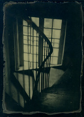 The old starecase (vincent-photo) Tags: blackwhite ambrotype largeformat 5x7 gelatin glassplate 13x18 dryplate fkd fkdcamera ascorbotype