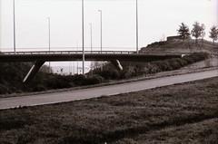 Park Forum, Eindhoven, NB (Jickatrap) Tags: blackandwhite film architecture analog 35mm pentax eindhoven infrastructure     pentaxmz50 bwfilm filmphotography ilforddelta100  ilforddelta   newtopographics      parkforum  zwartsjansmaarchitects photographersontumblr