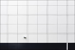 Fly on the wall (Maerten Prins) Tags: camera white abstract netherlands lines wall composition observation grid squares nederland cctv eindhoven minimal minimalism explored