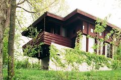 cincinnati - boulter house 1 (Doctor Casino) Tags: house architecture cincinnati balcony 1954 franklloydwright architect hillside clifton cantilever usonian bldgtext cedricandpatriciaboulterhouse