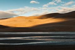 Playful Light (Patrick.Russell) Tags: light orange fall nature sunrise landscape outside outdoors sand nikon colorado dunes co sunrisesunset greatsanddunes d300 cloudsstormssunsetssunrises lightstoke