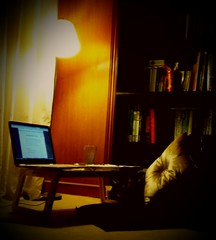 reading spot (mussharafhussain) Tags: lamp night books studies studytable