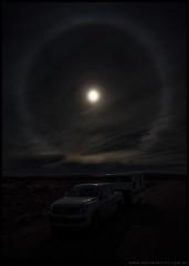 Nube y halo en la estepa
