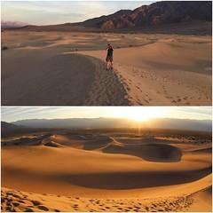 Shot of sand dunes at sunset (daveynin) Tags: nps deathvalley desert california sand dunes sunset orange