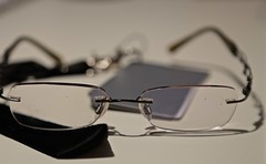 Weak Glasses and Gray Cards (smilla4) Tags: bokeh macro closeup glasses graycards stilllife shadow