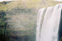 (aclaudine) Tags: 35mm film colors waterfall water nature naturallight green skogafoss iceland canon