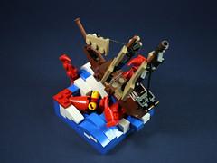 Sea monster attack-4 (LEGO 7) Tags: sea monster attack ship lego