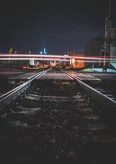 (Blockshadows) Tags: mood tone tones longexposure unionpacific bnsf railfan rails colorado i25 nightphotography moody downtown denver buildings lights industrial city urban traintracks train tracks lighttrails light night sharp 50mm mk4 markiv canon