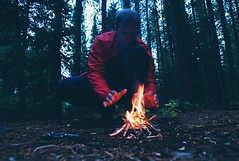 survivorman-alone-fire-forest-scared-warmth-comfort-5830 (Jeremy Thurston) Tags: fire outdoors alone wilderness montana heat comfort night survival prepper
