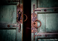 Door knocking for a lock (gunman47) Tags: 24105 24105mm asia changdeokgung ef korea korean palace rok republic seoul south architecture door knock knocker lock photography rusting       southkorea
