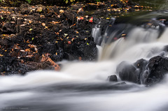 Monatiquot River falls (alohadave) Tags: braintree massachusetts monatiquotriver norfolkcounty northamerica overcast pentaxk5 places river sky unitedstates water waterfall smcpda60250mmf4edifsdm