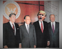 Four Presidents! (RED GATES.) Tags: president trump nixon ford reagan deadzone king movie mt stephen walken film