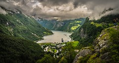 Geiranger Fjord (Nycee4) Tags: norway fjord geiranger travel green water sky landscape mountains nature