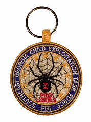 FBI Southeast Georgia Child Exploitation Task Force Key Chain Patch (Nate_892) Tags: ga georgia southeast child exploitation task force icac internet crimes against children patch coin challenge key chain police federal agent fbi bureau investigation innocent images