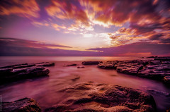 Dunraven Bay, S.Wales. #3 (Rob Escott - (E-form Photography)) Tags: welshcoastline dunravenbay swales beach wales water sunset welshlandscape nikond7000 longexposure movement wideangle cloud sky slowskies