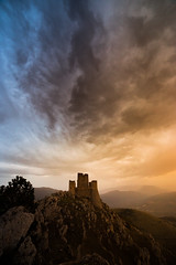 Always there (Massimiliano Teodori) Tags: roccacalascio abruzzo sunset stormy weather castle mountain landscape