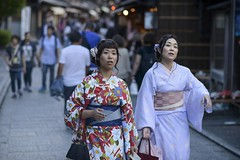 The moment you finally find that Family Mart (or Lawson) () Tags: gion girls women nikon 85mm 18 d800 japan street kimono