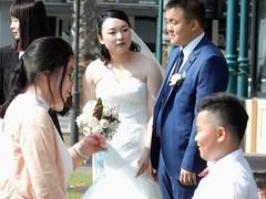 White Bride (mikecogh) Tags: glenelg wedding party couple roses white