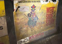 West Side Story poster   Euston Lost Tunnels   Hidden London Tour-9 (Paul Dykes) Tags: eustonundergroundstation losttunnels hiddenlondon london england uk londontransportmuseum hiddenlondontours october 2016 charingcrosseustonhampsteadrailway citysouthlondonrailway 1907 1914 railways metros underground publictransport poster advertisement vintageposter vintageadvertisement vintagead vintageads ripped torn palimpsest collage westsidestory musical robertwise 1962 1961 londonunderground tube