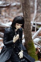 005 (Kumaguro) Tags: bjd dollshe husky dollshehusky autumn earlywinter forest cross dark gothic dollsheoldhusky