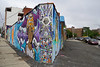 Welling Court Mural Project - Astoria, Queens, NYC (SomePhotosTakenByMe) Tags: auto car usa urlaub vacation holiday nyc newyork newyorkcity america amerika queens astoria mural wandbild kunst art graffiti wellingcourt wellingcourtmuralproject muralproject mahatmaghandi ghandi outdoor wall mauer
