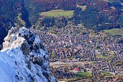 Mittenwald - From Above (cnmark) Tags: germany deutschland mittenwald bayern bavaria karwendel snow outdoors mountans mountain range gebirgskette alpen alps aerial view allrightsreserved