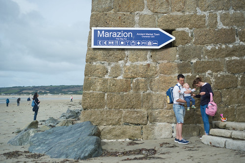A family at Marazion