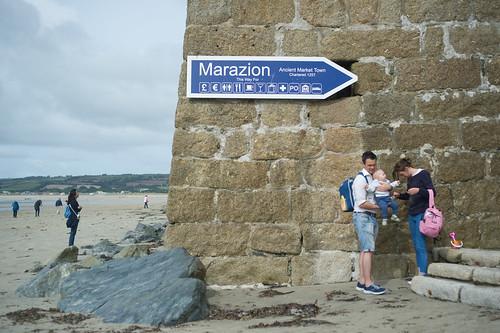 A family at Marazion
