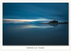 Tranquillity   Bamburgh Beach last week at the end of a great days shooting (Phil Durkin) Tags: 2016 bamburghbeach bamburghcastle beadnellharbour craster cullernosepoint dunstanburghcastle holyisland lindisfarnecastle northumberland phildurkin sea sunset chemicalbeach longexposure roker seascape sunrise water