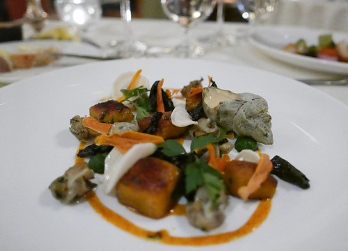 Heirloom Squash Gnocchi, Welks, Mushroom, White Wine Cream Sauce