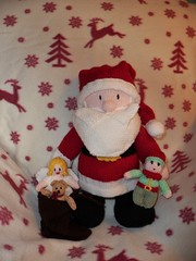 Santa Claus (Martellotower) Tags: santa claus father christmas knitted sack toys fairy teddy bear elf
