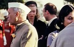 Jawaharlal Nehru at a reception (Doc Kazi) Tags: india pakistan history partition independence mountbatten nehru jinnah liaquat baldev kripalani radcliffe din mohammad munir judges burma