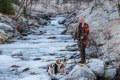 Frozen river (Toftus Photography) Tags: female femme femelle femenino woman girl girlpower jente pige dame kvinne kvinde jeger jger hunter beauty beautiful nature natur dog dogs hund winter vinter naturallight color farve