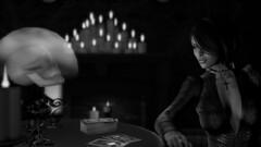 You never were very good company (Myra Wildmist) Tags: secondlife sl myrawildmist virtualphotography virtualart tarot fortune skull candles crystalball