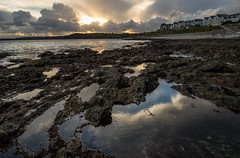 Castle Beach (Ben Porter Wildlife Photography) Tags: castlebeach gylly falmouth cornwall landscapes sunset wideangle rockpools coast mood sea