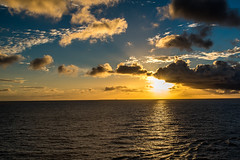 Ocean Sunset (Woodlands Photog) Tags: sunset gulf mexico water ocean clouds sky