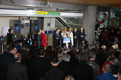 Evergreen extension officially open to the public (BC Gov Photos) Tags: evergreen line transit extension skytrain translink public rapid coquitlam burnaby port moody train station