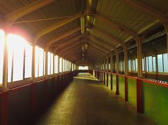 Empty Space (uk_dreamer) Tags: abstract architecture wood steel railway bridge sunlight light dark lines distance dof depthoffield building landudno wales victorian cymru