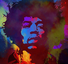 Hendrix 1 (Jackie XLY) Tags: colours colors hendrix pop rock popart