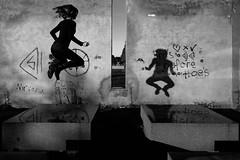 in the air (moltofredo) Tags: bw black white sw schwarz weiss noiretblanc monochrome street streetlife streetphotography silhouette human urban schatten shadow