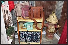 IMG_9627 (sally_byler) Tags: nostalgic novelties telephone phone purses fire hydrant boutique shop store ohio display handbags antiques fashion