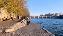 Berge de Seine (Raymonde Contensous) Tags: paris laseine fleuves rivières eau ponts quais berges