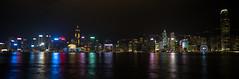 HongKong island panoramic view (Jan_Lewandowski) Tags: hongkong hong kong night nightshot lights city citylife architecture long exposure victoria harbour panorama panoramic travel traveling china 2016 water best shot chiny wyspa podróżowanie podróże